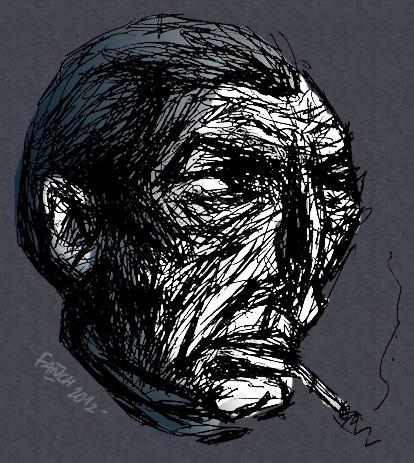 Portrait d'homme à la cigarette