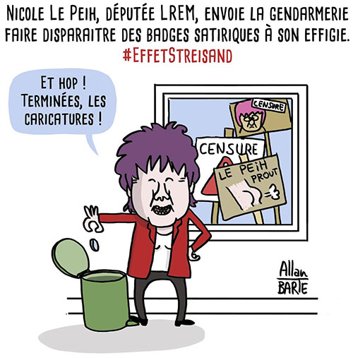 Nicole Le Peih censure des badges à son effigie