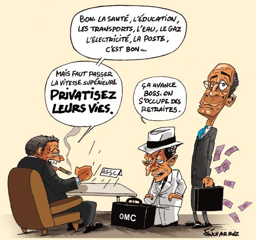 OMC dicte ses ordres a Sarkozy et Woerth